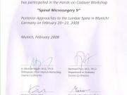 spinal-microsurgery-9-2008-h-mayer-knjiga-certifikat